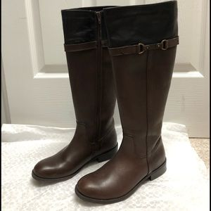 Brown / Black Clark's Leather Boots sz 6.5